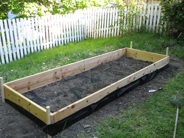 12 by 4 feet raised bed.