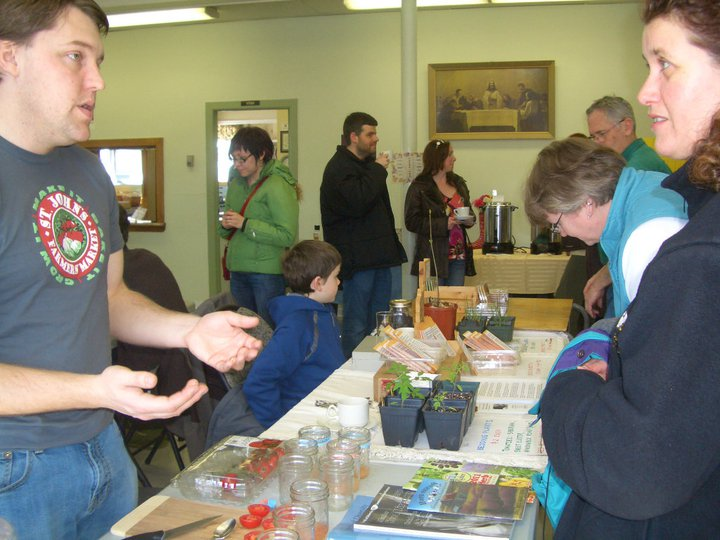 Seed saving demonstration table at FEASt Fest in 2010. More details here: http://rootcellarsrock.ca/2011/04/saving-tomato-seeds/