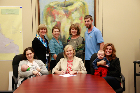 The Honourable Susan Sullivan, Minister of Health and Community Services, was joined by members of the Baby-Friendly Council of Newfoundland and Labrador to proclaim October 1 to 7 World Breastfeeding Week in Newfoundland and Labrador – October, 2013