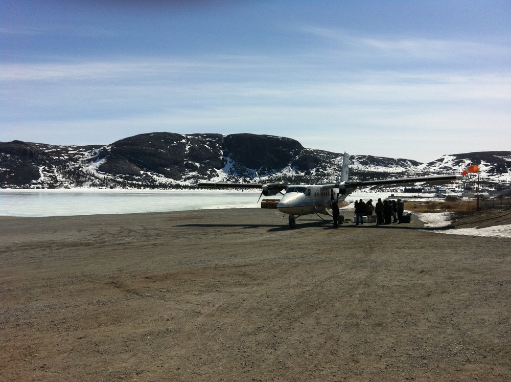 With no road linkages between communities in Nunatsiavut, all food shipped up Labrador's north coast is transported by plane or boat.