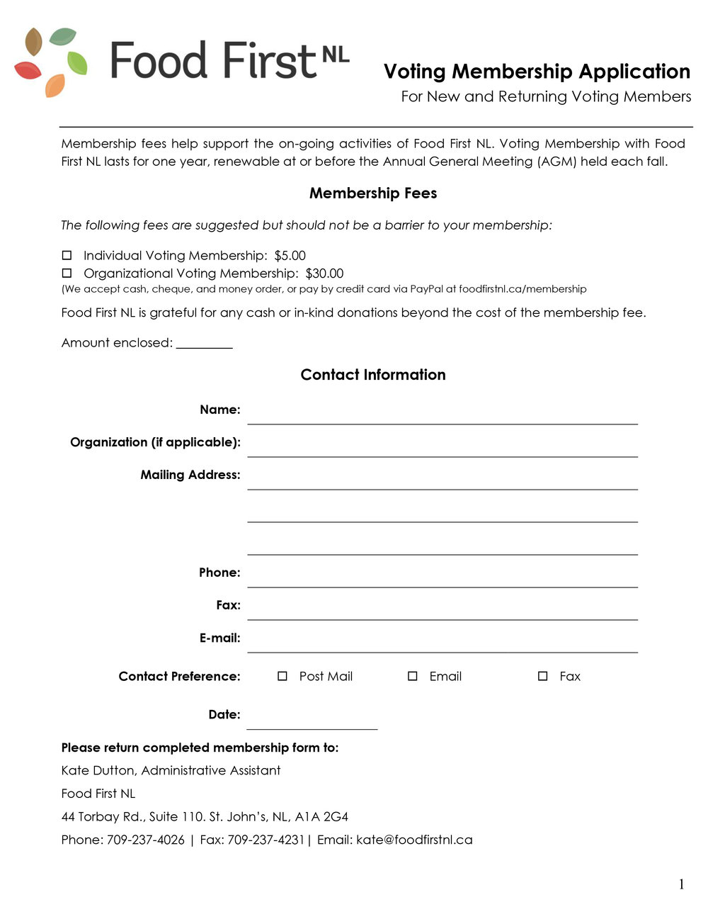 Click to download our voting membership application.