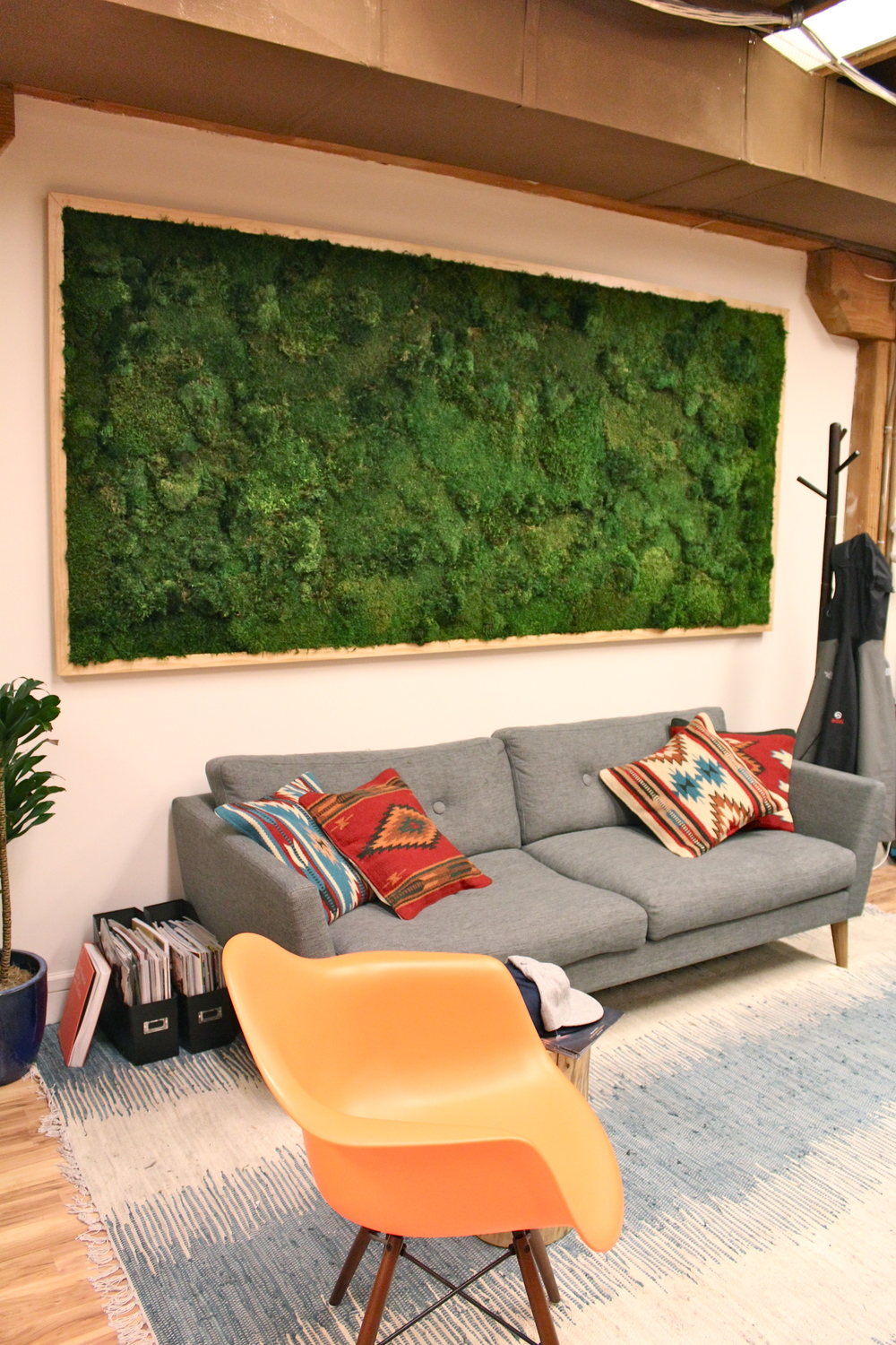 Preserved Moss Wall by Amanda Goldberg Planted Design