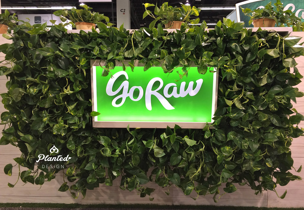 Go Raw trade show booth by Planted Design