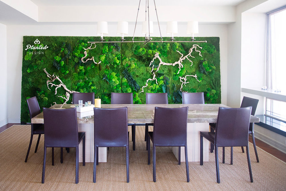 Residential Installation - Moss Wall Gallery