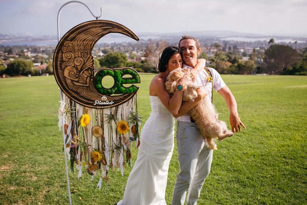 Dreamcatcher Wedding  - Moss Wall