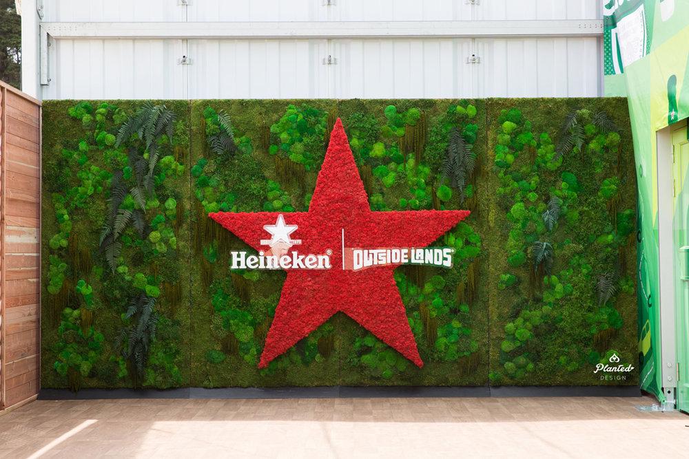 Heineken  — Moss Wall