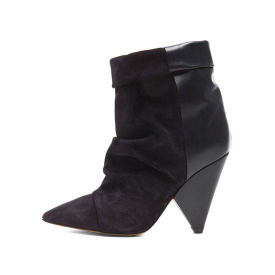 Isabel Marant Andrew Calfskin Velvet Leather Boots