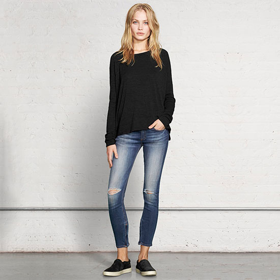 Rag & Bone Zipper Capri - Pacifico