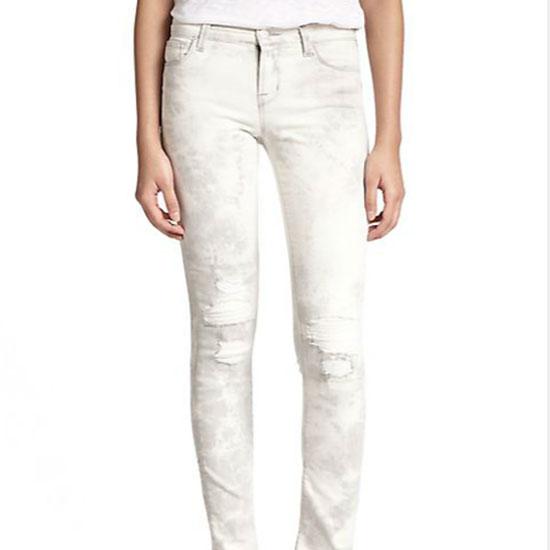 J Brand Tie-Dye Distressed Rail Skinny Jeans