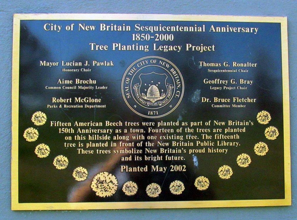 Sesquicentennial Anniversary Plaque