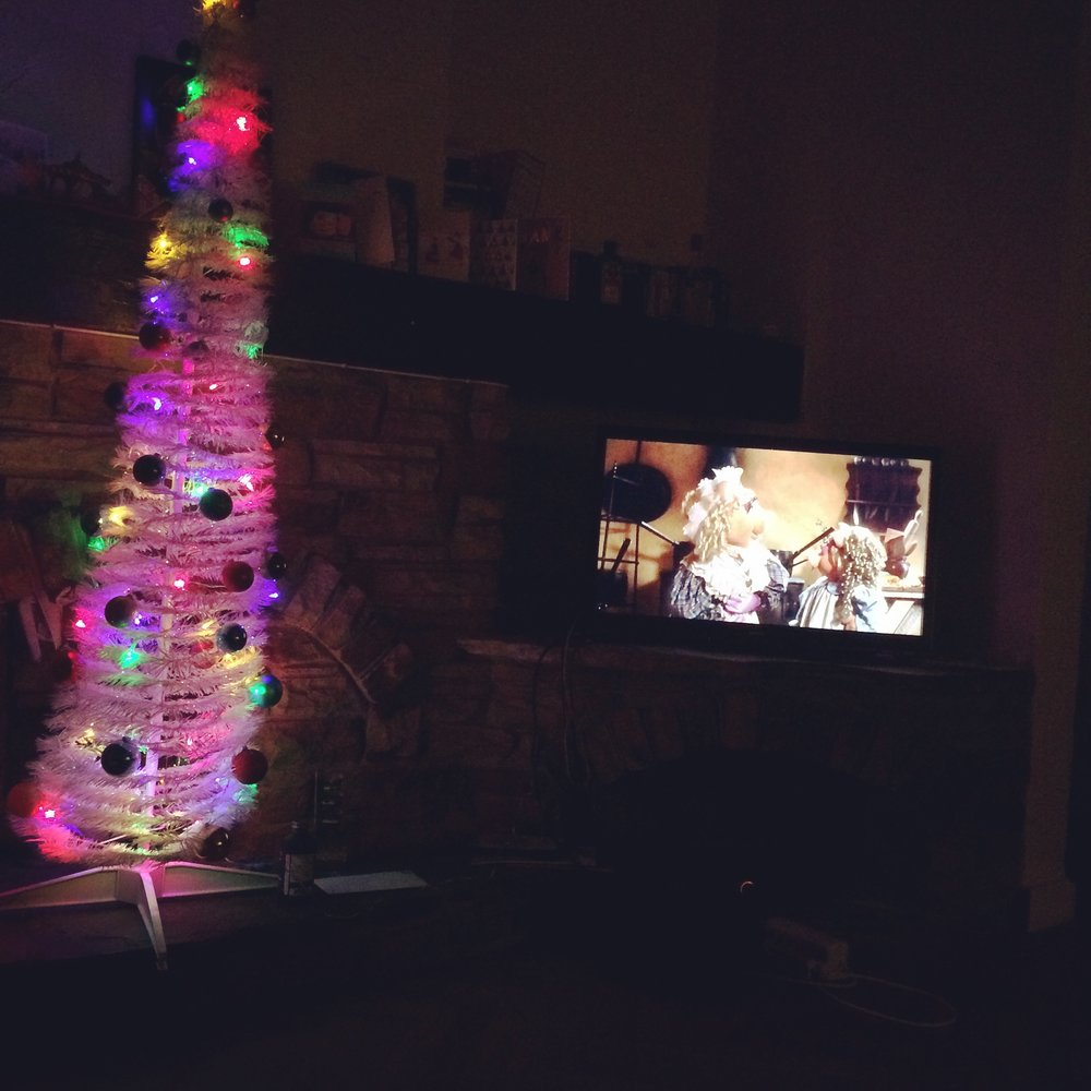 "Watching a Muppet Christmas Carol next to a ""Tree"""
