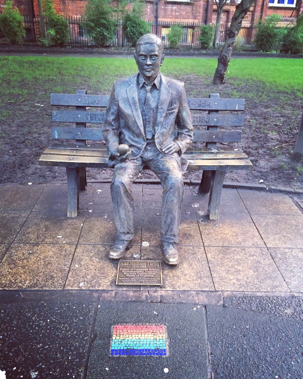 Tribute to Alan Turing in Manchester