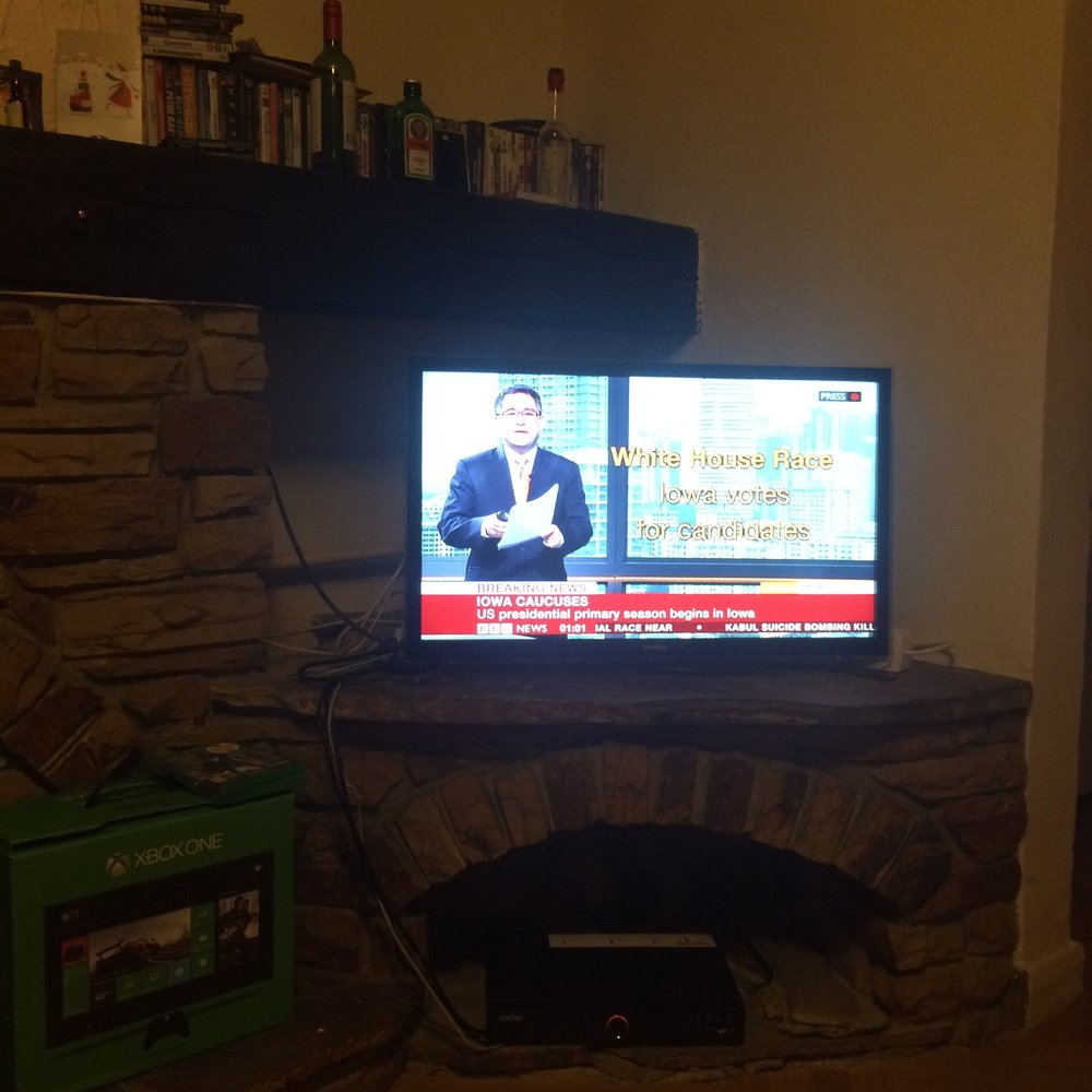 Watching the BBC cover the Iowa Caucuses