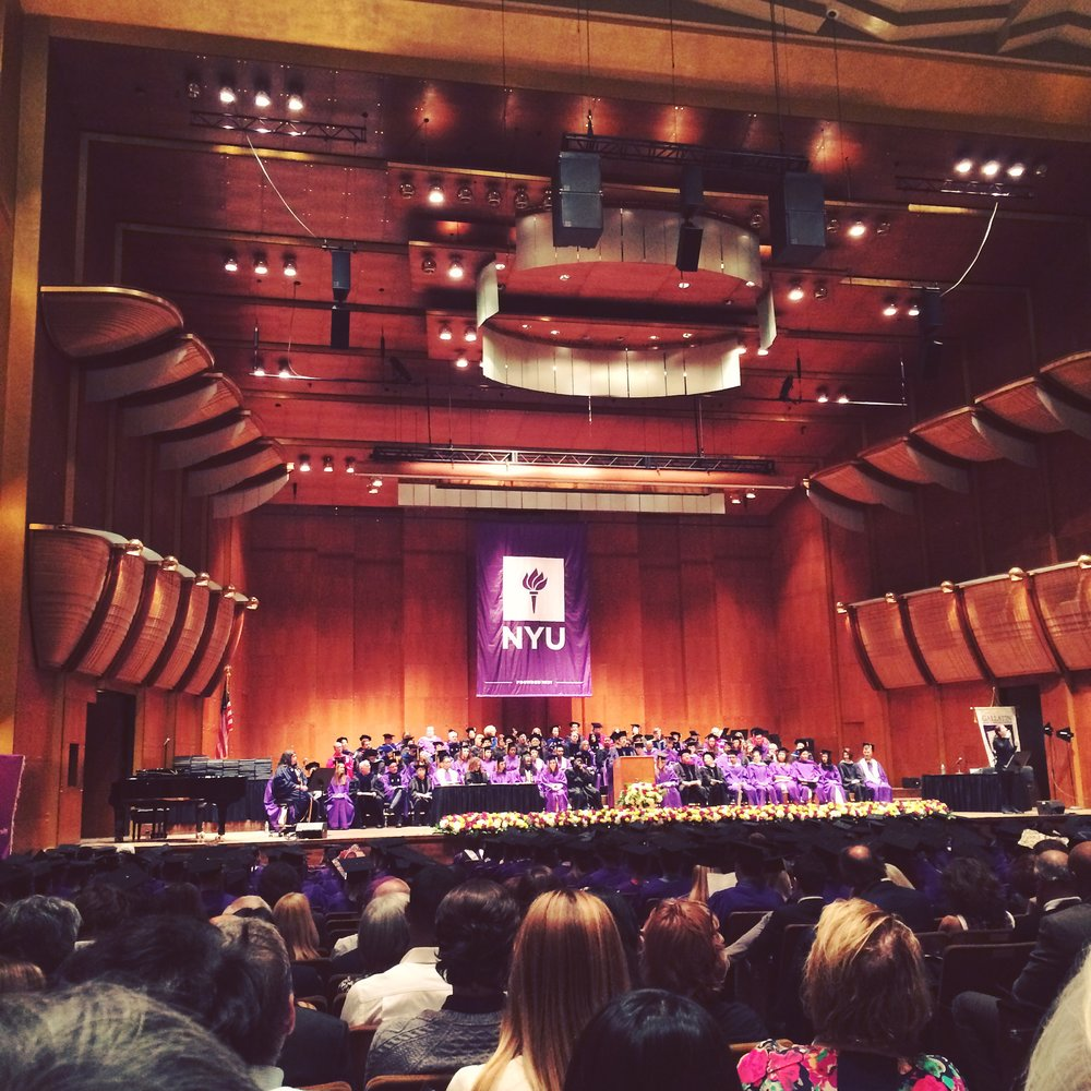 I went to my sister's college graduation!