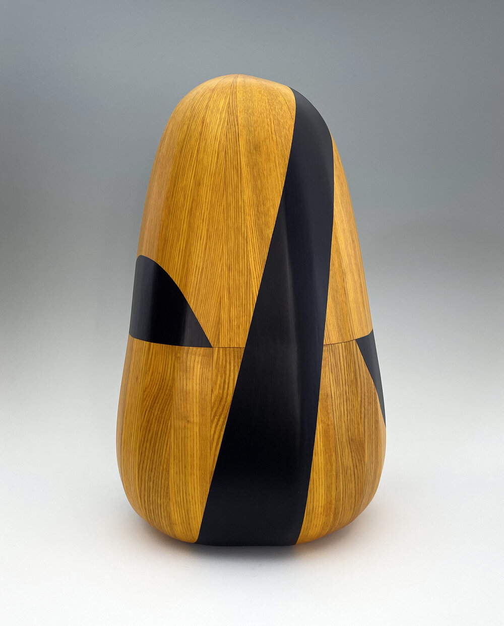 The Resolution, 2018  17 x 11 x 10 inches  wood, stain, paint