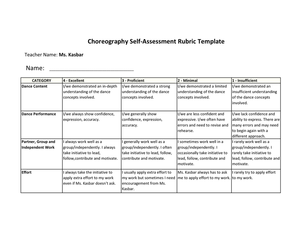 dance assessment battle rubric pdf