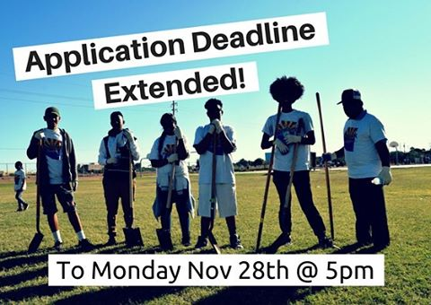 "Great News! The #loveyourblock #application #deadline is now EXTENDED to 11/28 at 5pm! #apply at phoenix.gov/volunteer & click on ""Love Your Block"""