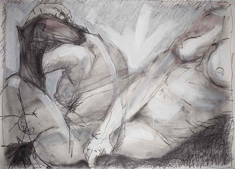 2 seated figures