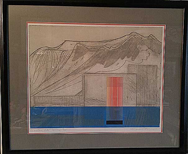 "A Meredith Barry, Ontario, Original Print 7/35, ""Mountain City Spring"", Size: 34 x 29, Price: 495.00"