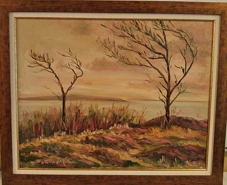 "Norman Fanthorpe, Oil on Board, ""End of Season"", Size: 33 x 22, Price: 250.00"