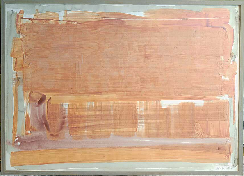 "Phil Darrah, Gouche/Acrylic on Paper, ""Laker"", 1984, Size: 43 x 31, Est. Value: 3,500 - 4,500.00, Price: 850.00"