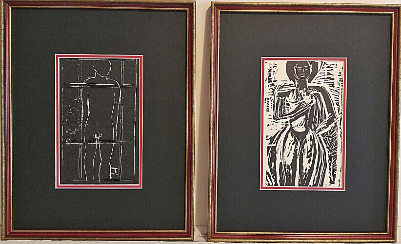 Arthur Adamson, Original Wood Block Prints, 76/126, Size: 12 x 15, Price 250.00 Pair