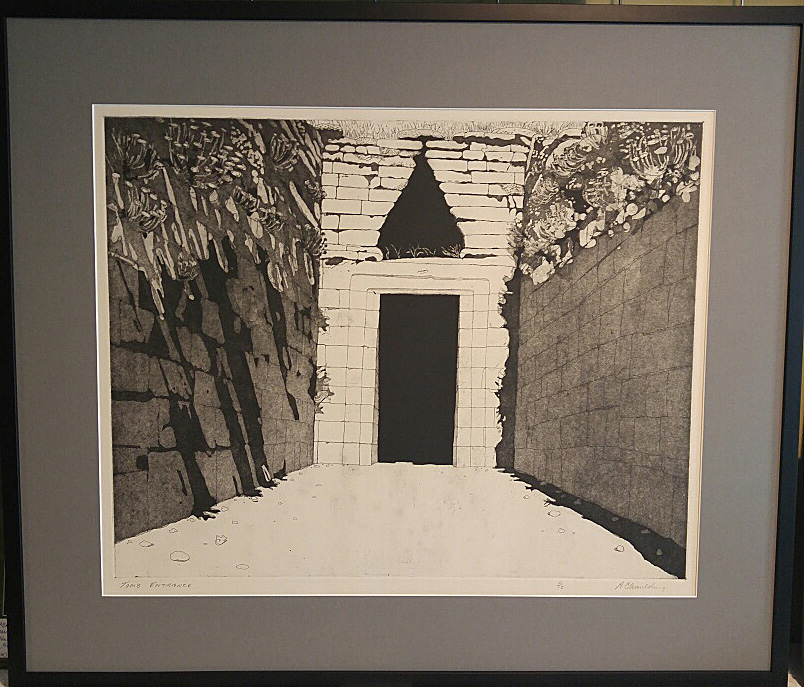 "Alan Moulding, Original Print 2/15, ""Tomb Entrance"", Size: 38 x 22, Price: 425.00"
