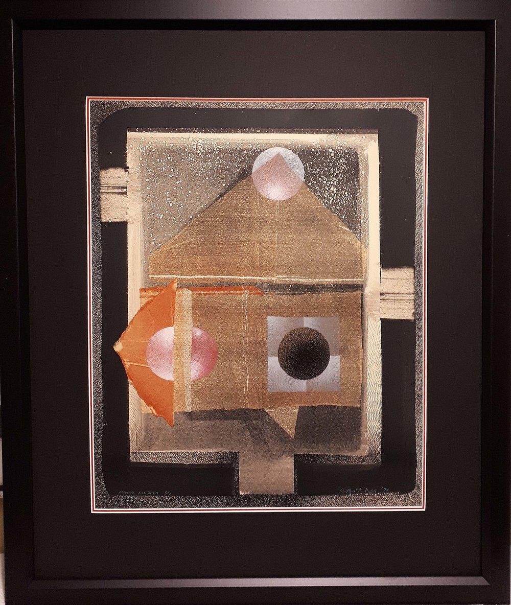 Rudolf Bikkers, RCA, Quebec, Item#317,Original monoprint, 1974, Size: 26 x 30, Price: 275.00