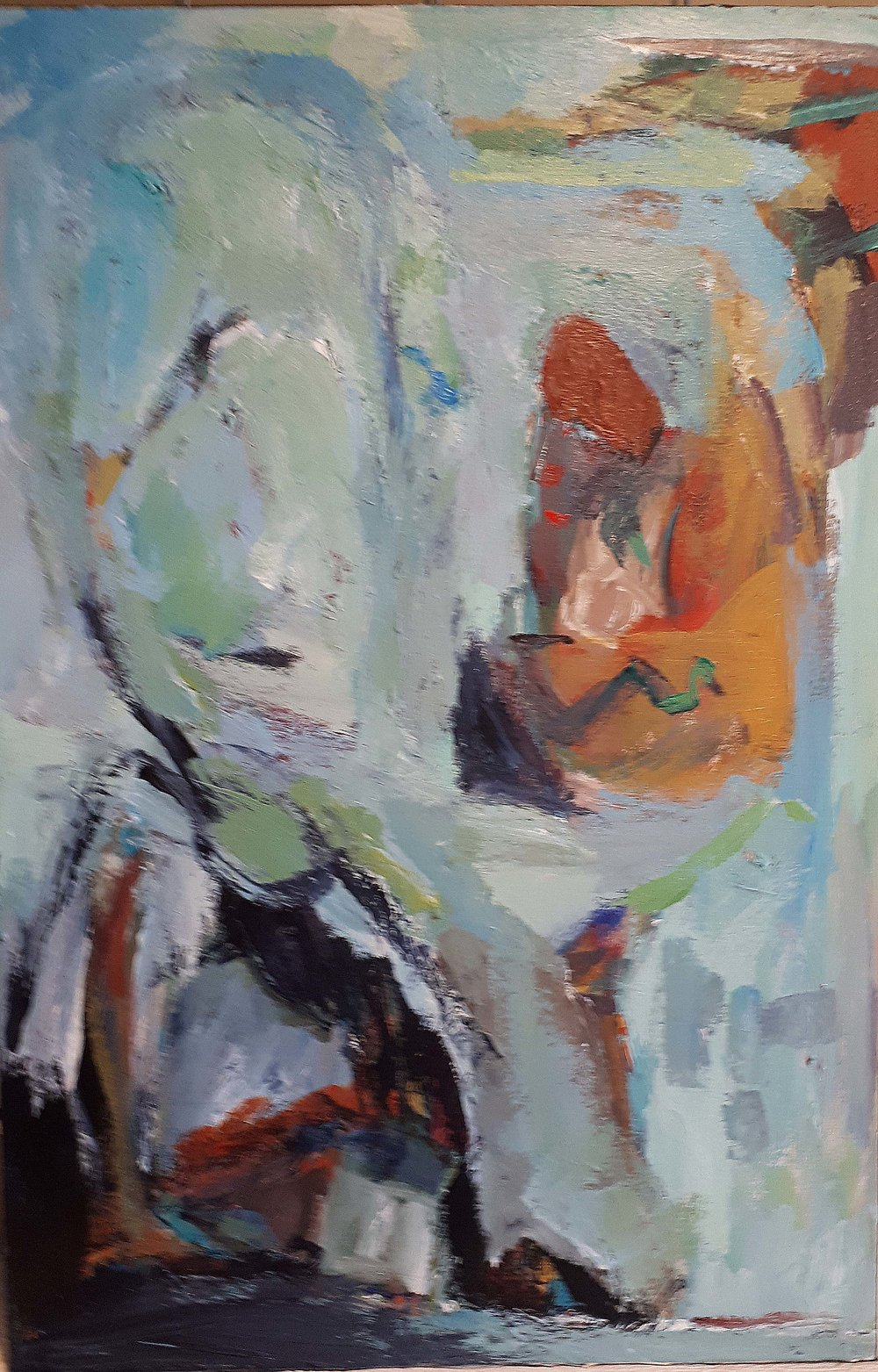 Unsigned, Style of Alexandra Luke, Oil on canvas,Size: 22 x 32, Price: 250.00