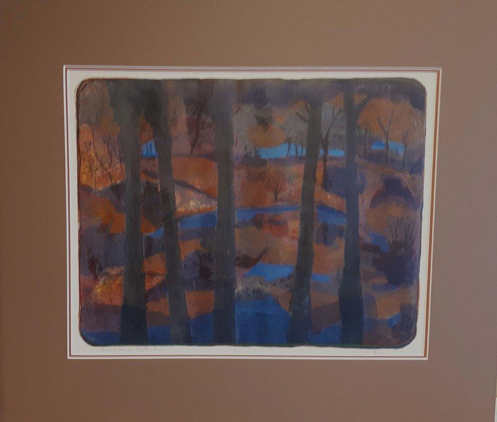 "John Snow RCA, Alberta, Original print 10/14, ""Landscape September"", Size: 28 x 24, Price: 425.00"
