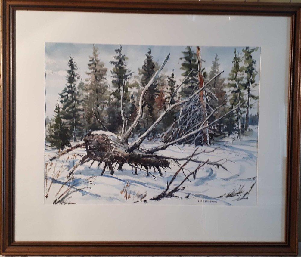"Leonard Sandeman MSA (1923 - 2017) England/Canada, Watercolour, ""Birds Hill Park"", Size: 33 x 39, Price: 295.00"