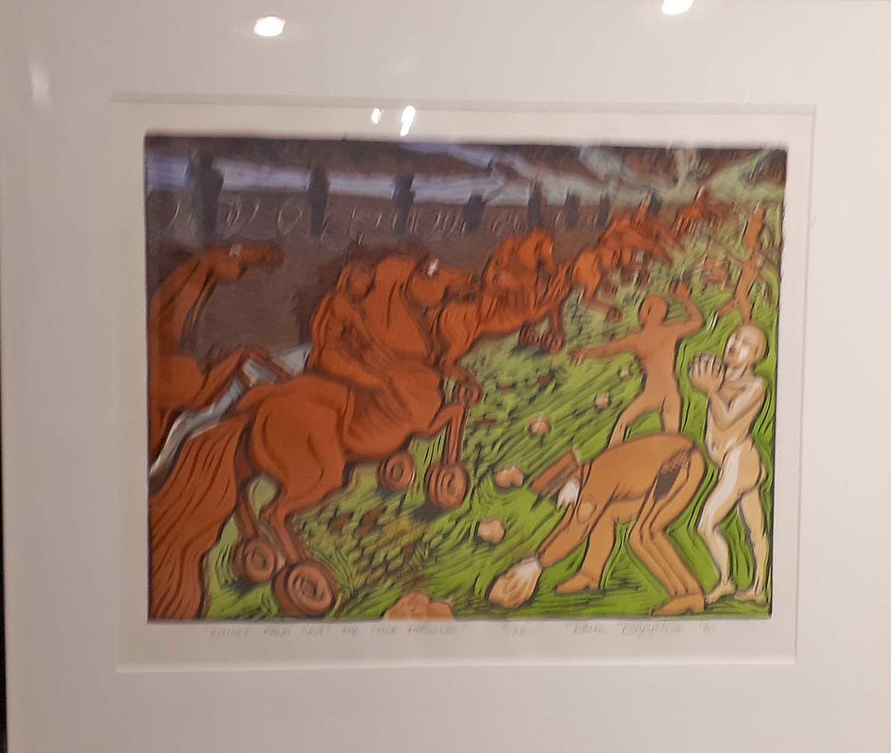"Rhian Brynjolson, ""Visions from Oka"", Original Print, 16/22, Size: 24 x 20, Price: 165.00"