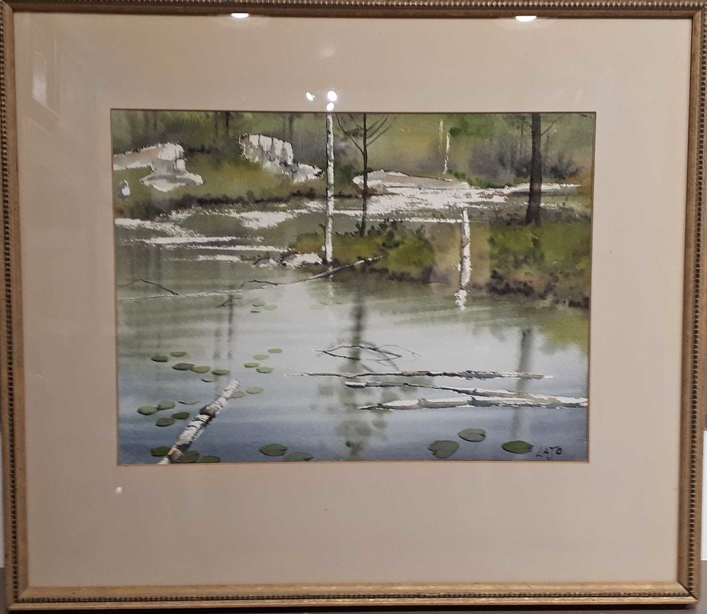 "Lajo Cymbalski, Watercolour ""Around the Bend"", size: 22 x 19, Price: 175.00"