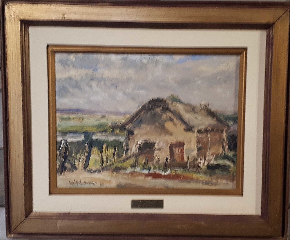 Cecil James (Sask.) Oil on Board, 1950, Size: 24 x 20, Price: 325.00
