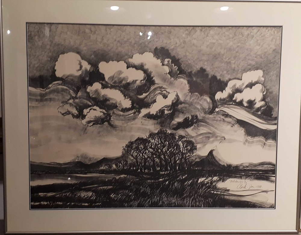 "Kelly Clark, Original Print, 6/12, ""October"", Size: 36 x 28, Price: 375.00"