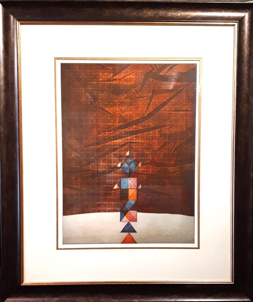 "John Esler RCA, Original Print 33/50, ""Signals"", Size: 33 x 30, Price: 425.00"