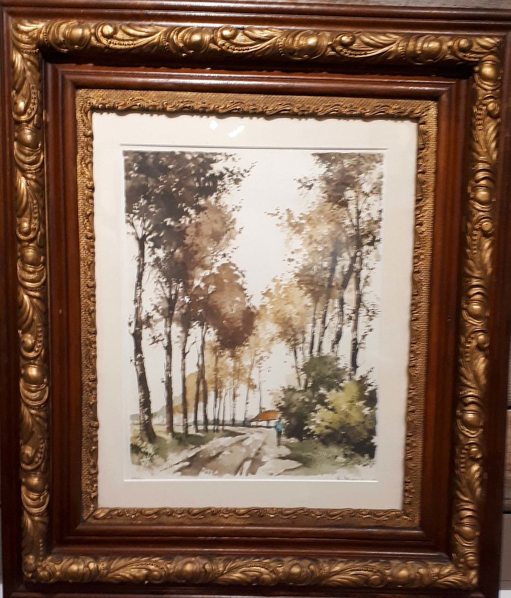 G. Hibbeling, Aquatint Etching, Size: 25 x 30, Price: 195.00