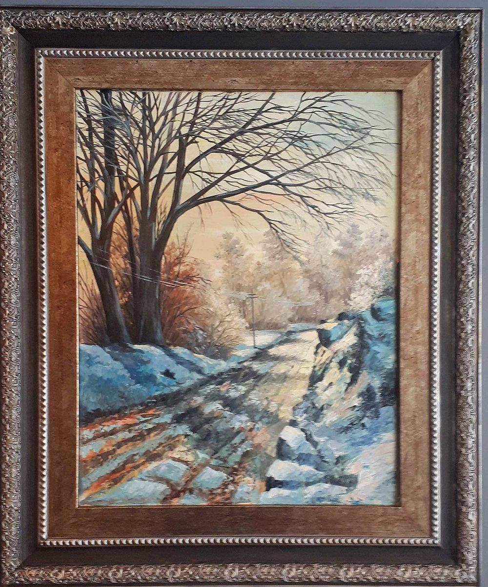 "Joe Potempka , German Canadian, Oil on Board, ""Winter Wonderland"", Size: 38 x 32, Price: 375.00"