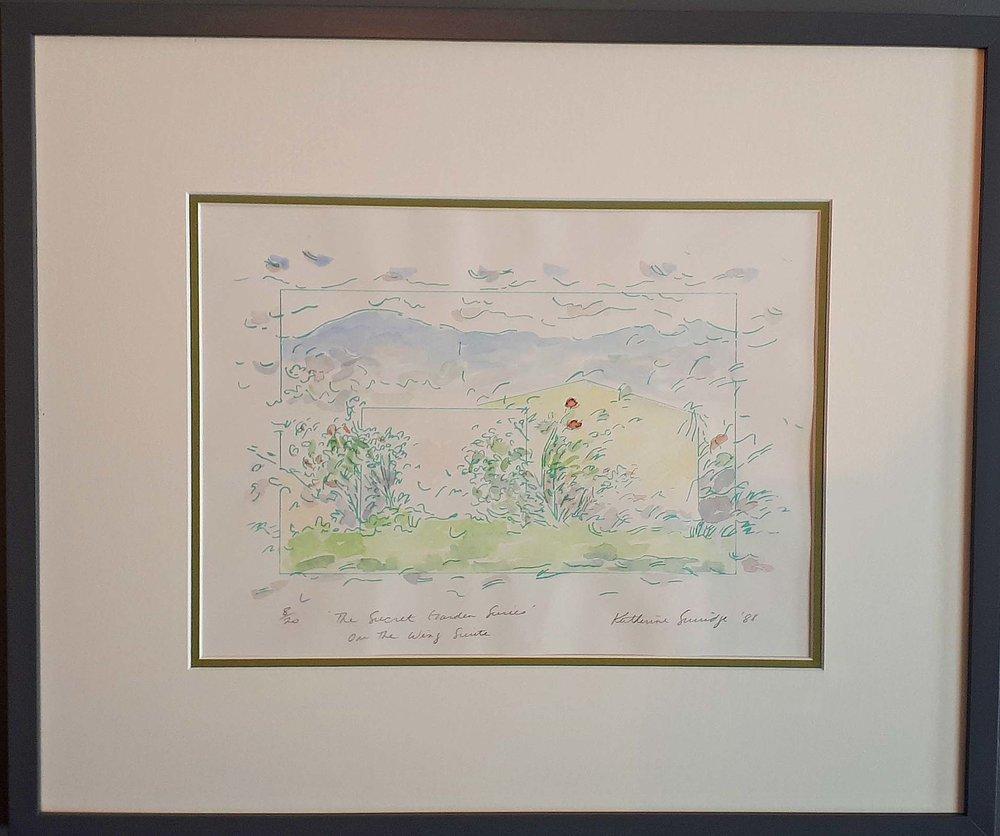 "Katherine Surridge, B.C., Original Print 8/20, ""The Secret Garden"", 1988, Size: 24 x 20, Price: 295.00"