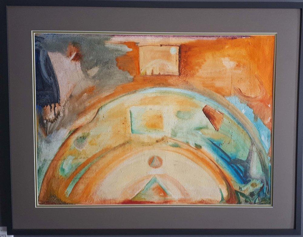 Geza Hermabb, Toronto, Acrylic on Paper, 1980, Size: 39 x 31, Price: 525.00