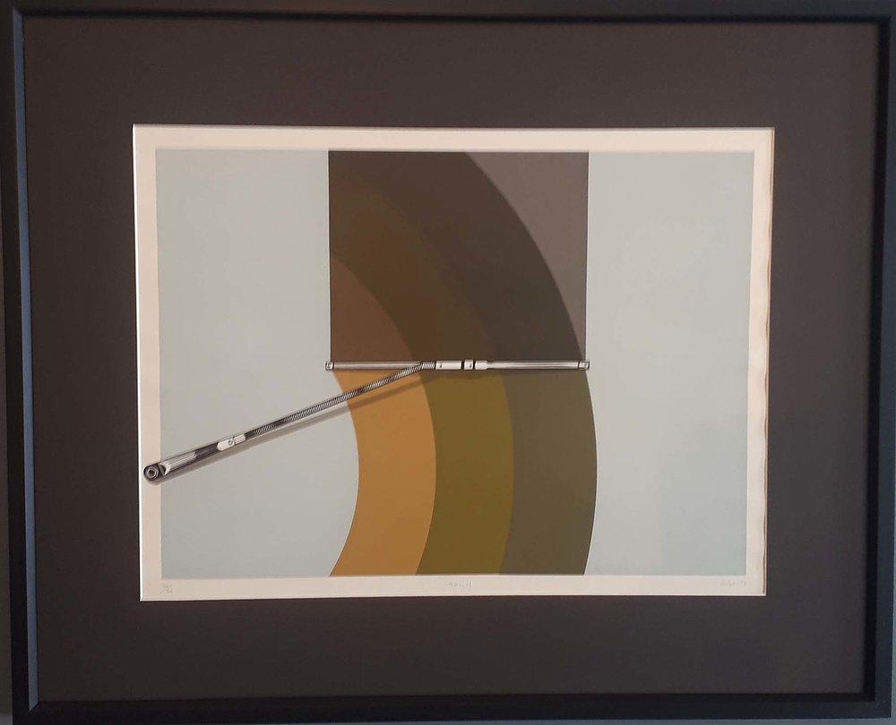 "Helen Letourneau aka ""Leto"", ""Sol-1"", Original Print 26/34, Size: 33 x 27, Price: 395.00"