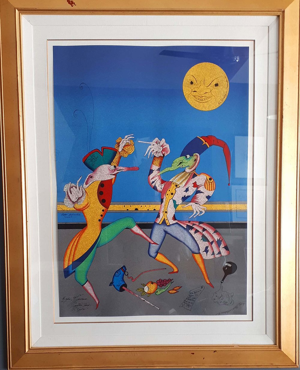 "Mihail Chemaikin, Russia, Original Lithograph 117/195, ""La Danse D'Ete"", Size: 40 x 51 inches, One of a set of three, Est. value: 11,000.00. Price: 3,500.00 for the set of three."