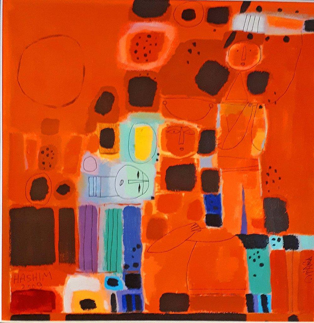 Hashim Hanoon Iranian Canadian, Acrylic on canvas 2009, 27 x 27 framed,  12 x 12 unframed, Price: 750.00