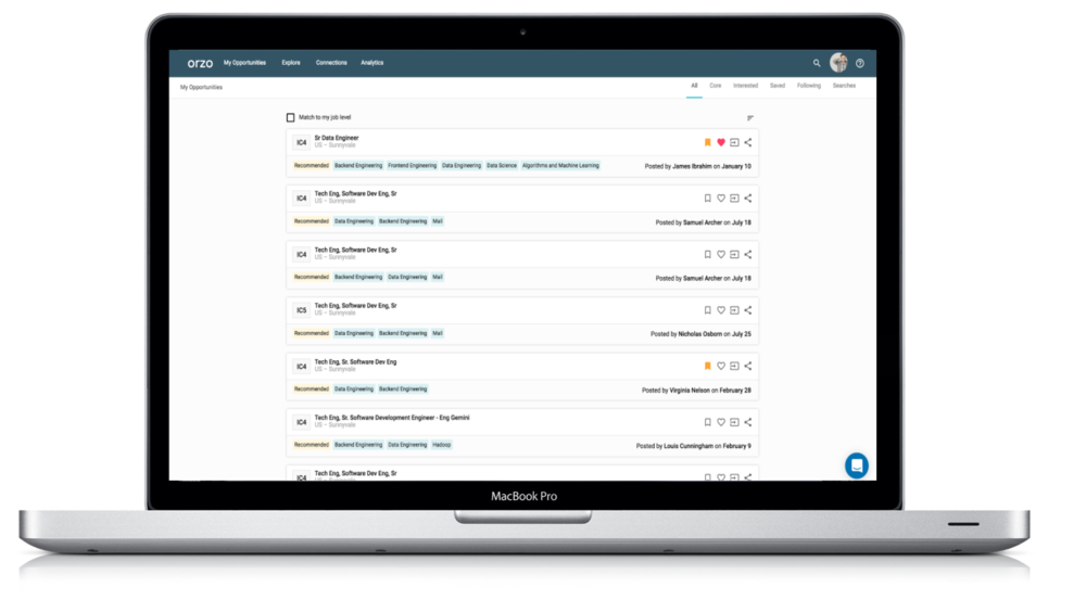 A modern platform for the modern workforce - We've applied machine learning and natural language processing to surface and match the right candidate to the right role, all in a clean enjoyable user interface.