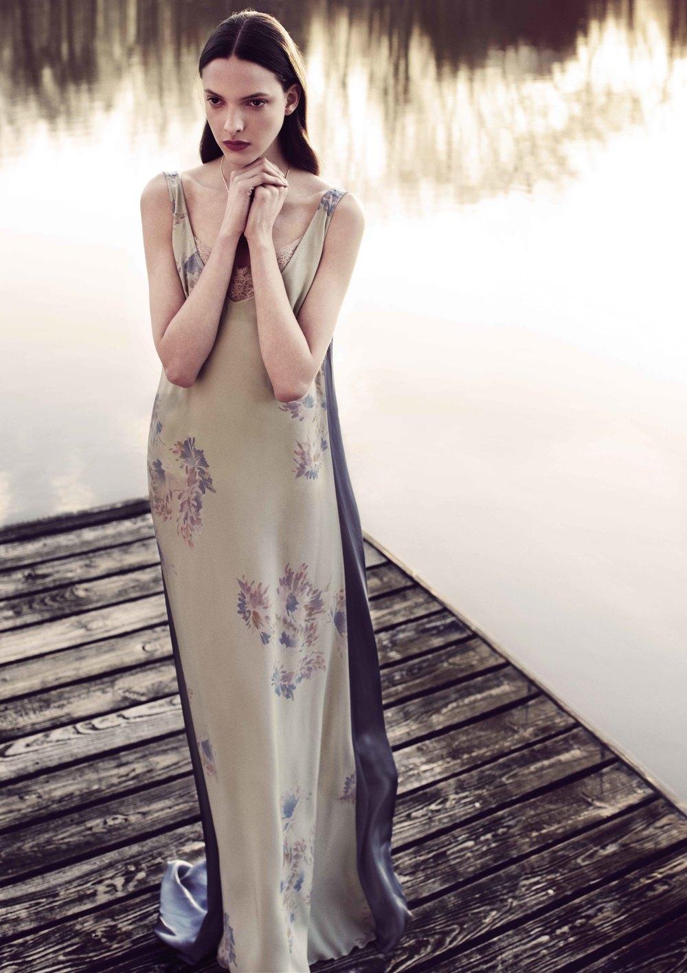 Dries Van Noten Dress Aubade Slip Susan Caplan Locket Necklace Stylist's Own Rabbit Ring