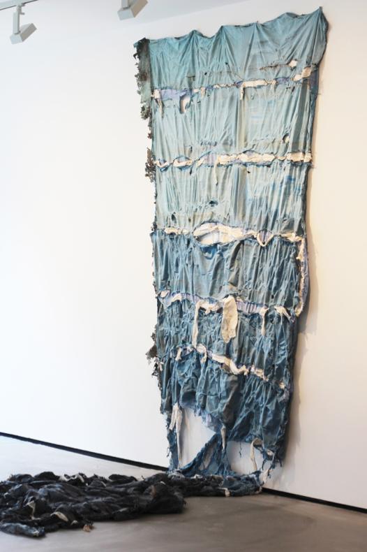 'Garage (West Sussex)', Prevul latex, Paint, Hemp, Fabric, Modroc, Debris, Rag. 2m x 8m | 2014