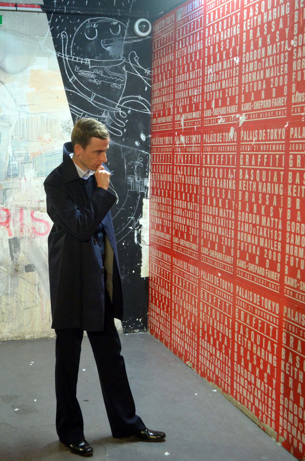 Richard Clay at graffiti exhibition, Palais De Tokyo, Paris.