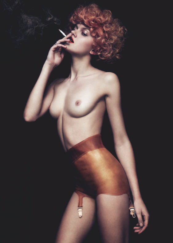 Ebba Wears Latex Knickers by Atsuko Kudo, Ring  by Alibi