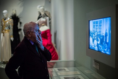 Pierre Bergé, at the Yves Saint Laurent: Style is Eternal exhibition