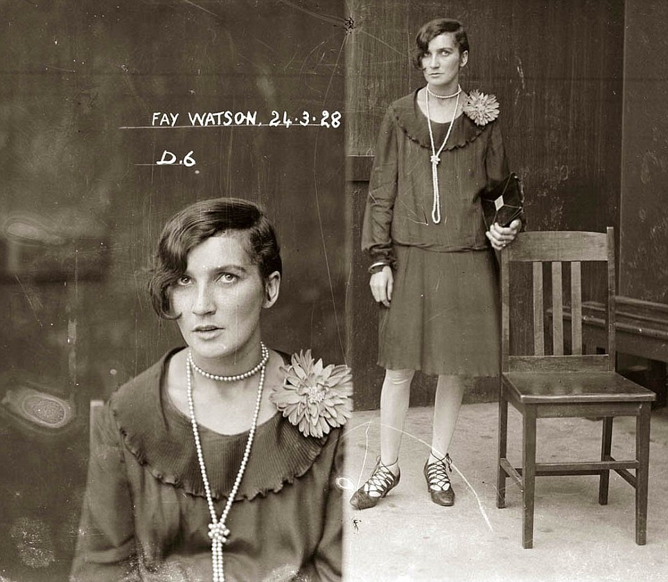 Fay Watson listed in the New South Walkes Police Gazette from 1928